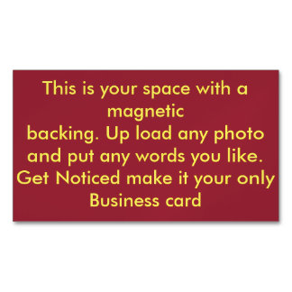 Make Your Own Custom Business Card Magnet