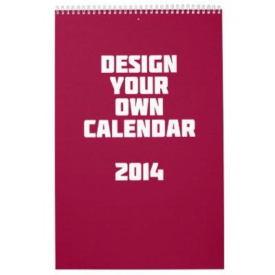 Make Your Own Calendar 2014