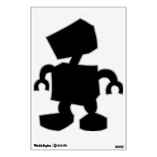 Make Your Own Custom Funny Robot Wall Decal