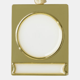 Make Your Own Custom Gold Plated Banner Ornaments