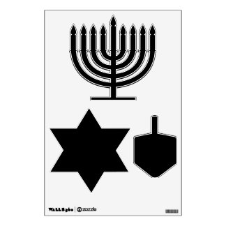 Make Your Own Custom Hanukkah Shapes Wall Decals