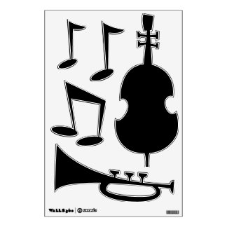 Make Your Own Custom Jazz Music Wall Decals