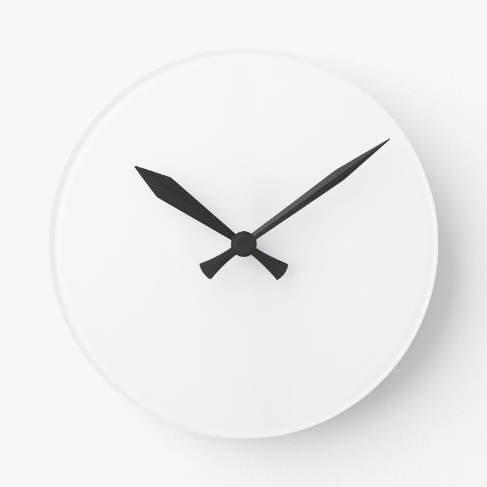 Make Your Own Custom Medium Round Wall Clocks Zazzle