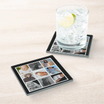 Make Your Own Custom Personalized 9 Images Glass Coaster