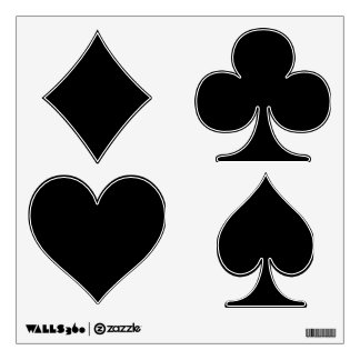 Make Your Own Custom Poker Shapes Wall Decals