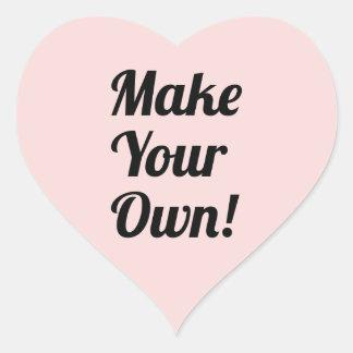 Make Your Own Custom Printed Heart Sticker