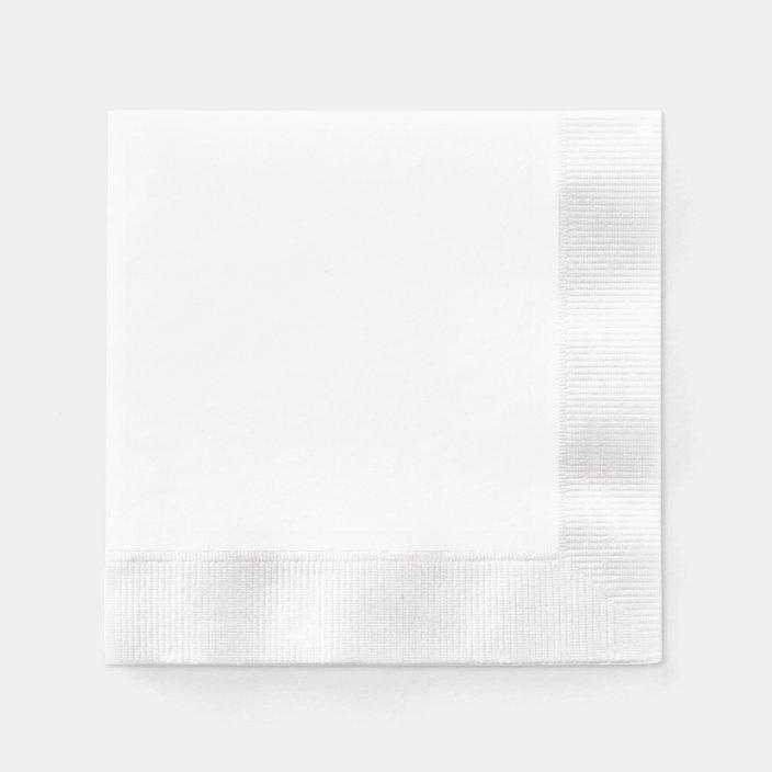 CUSTOM Printed White Napkins CUSTOM GRAPHIC