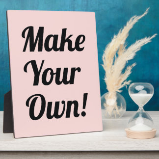 Make Your Own Custom Printed Plaques
