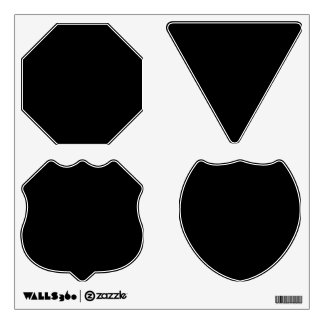 Make Your Own Custom Road Traffic Signs Wall Decal