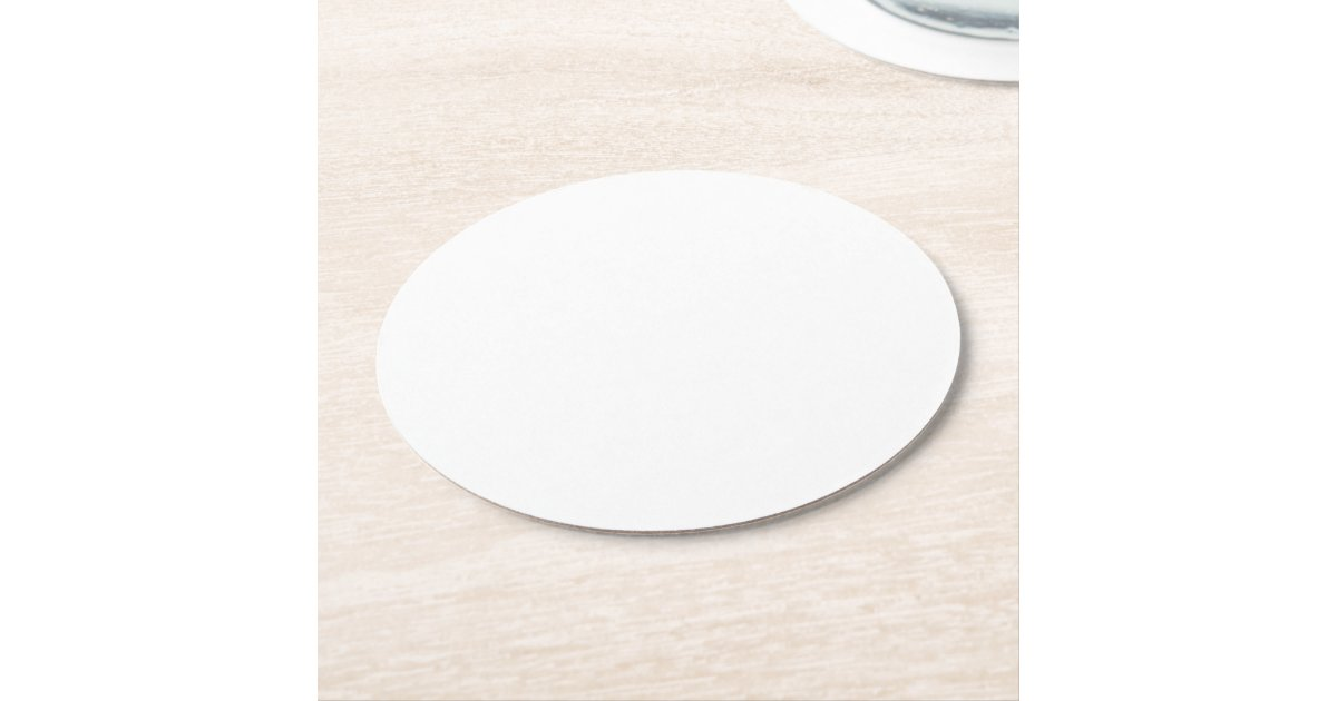 Make Your Own Custom Round Paper Coasters Zazzle