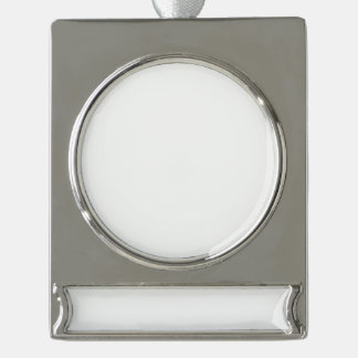 Make Your Own Custom Silver Plated Banner Ornament