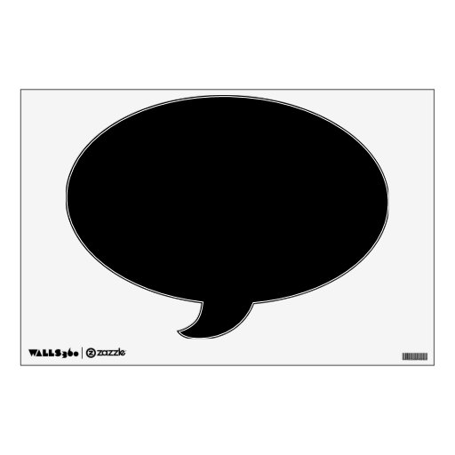 make your own custom speech bubble wall decal zazzle. Black Bedroom Furniture Sets. Home Design Ideas