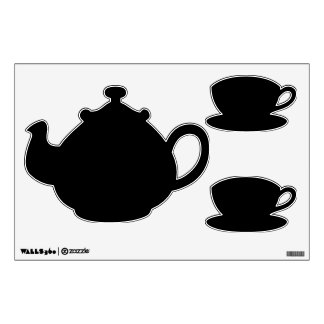 Make Your Own Custom Teapot and Tea Cup Wall Decal Room Graphic