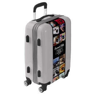 Make your own decor easily with 12 images on a luggage