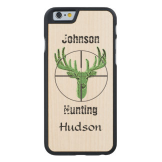 Make Your Own Deer Hunting Logo Carved® Maple iPhone 6 Slim Case