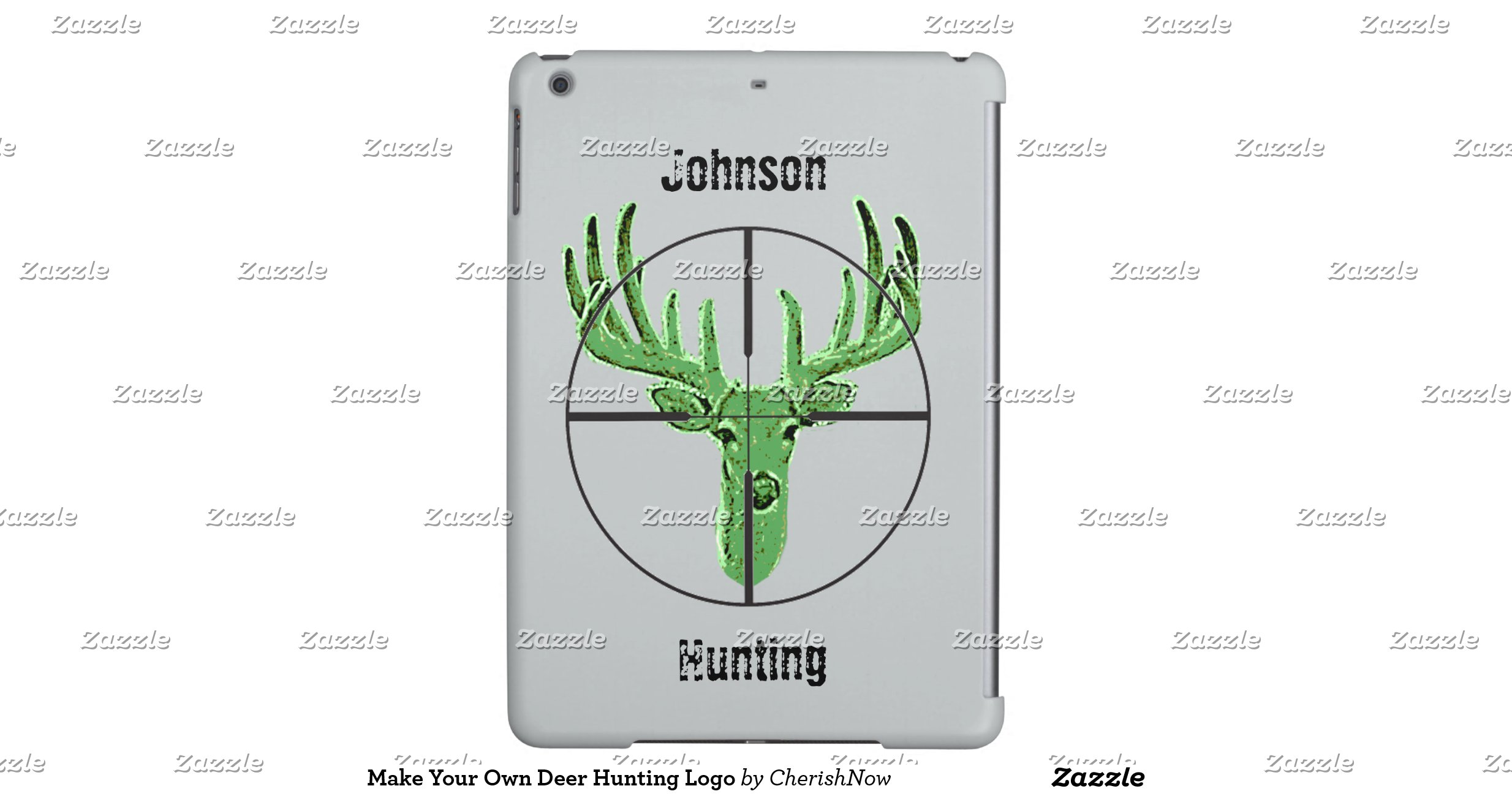 Make your own deer hunting logo ipad air cases zazzle for Draw your own logo