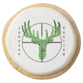 Make Your Own Deer Hunting Logo Round Shortbread Cookie