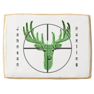 Make Your Own Deer Hunting Logo Shortbread Cookie