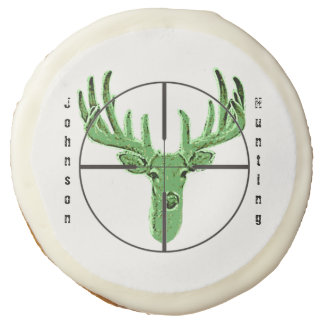 Make Your Own Deer Hunting Logo Sugar Cookie