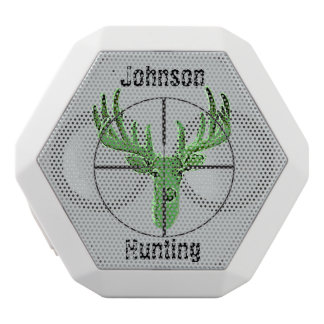 Make Your Own Deer Hunting Logo White Bluetooth Speaker