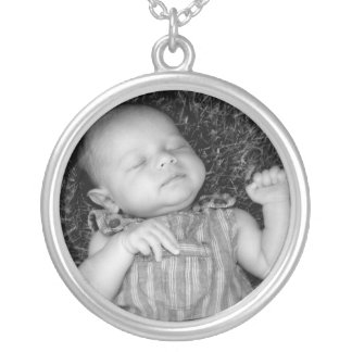 Make Your Own DIY Baby Photo Personalized Round Pendant Necklace
