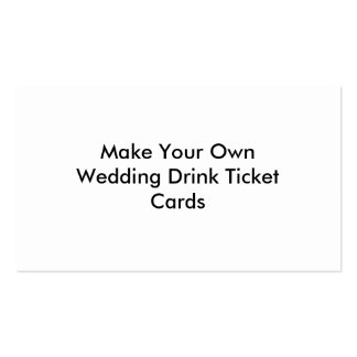 Make your own drink ticket cards for weddings double sided standard