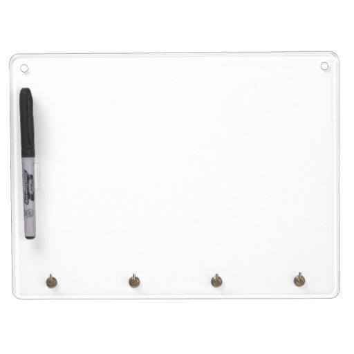 Keychain holder and Pen (horizontal) Dry Erase Board, No Adhesive, Pen holder attached