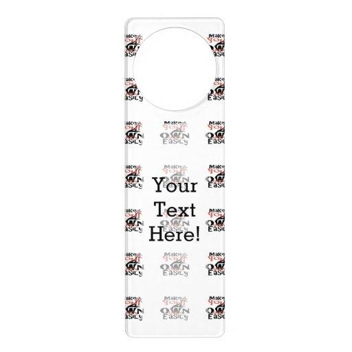 Make your own easily in one step door hanger zazzle for Create your own door