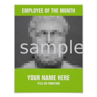 Make your own Employee of the month photo poster