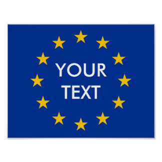 Make your own EU European Union flag posters