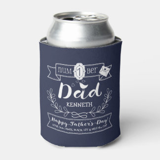 Make Your Own Father's Day No. 1 Dad Cute Monogram Can Cooler