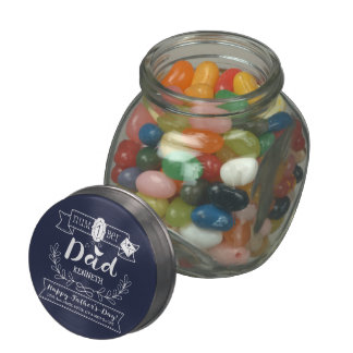 Make Your Own Father's Day No. 1 Dad Cute Monogram Jelly Belly Candy Jar