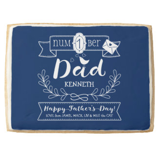Make Your Own Father's Day No. 1 Dad Cute Monogram Jumbo Shortbread Cookie