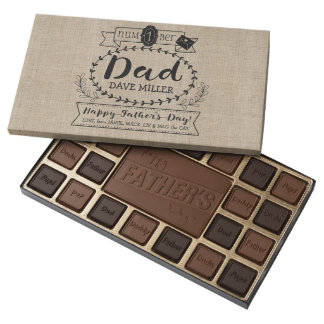 Make Your Own Father's Day Number 1 Dad Monogram 45 Piece Box Of Chocolates