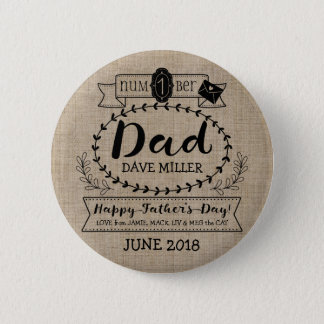 Make Your Own Father's Day Number 1 Dad Monogram Button