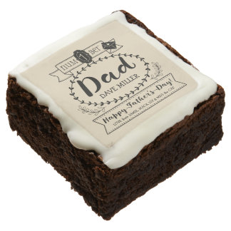 Make Your Own Father's Day Number 1 Dad Monogram Chocolate Brownie
