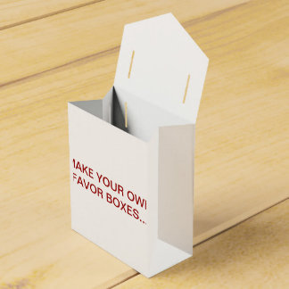 MAKE YOUR OWN FAVOR BOXES FOR YOUR WEDDING