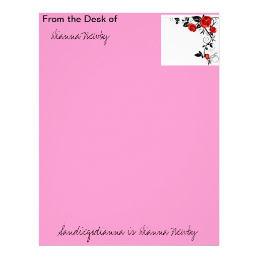 ... own...From the Desk of Dianna Newb... Letterhead Template | Zazzle