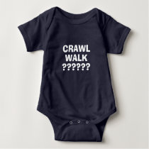 Make your own funny crawl walk baby bodysuit