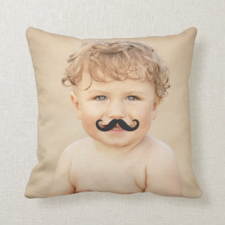 Make Your Own Funny Mustache Photo Custom Cushion Pillow