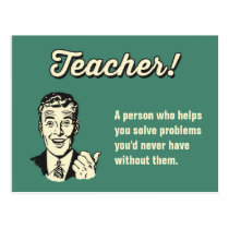 Make Your Own Funny Teacher Definition for Student Postcard
