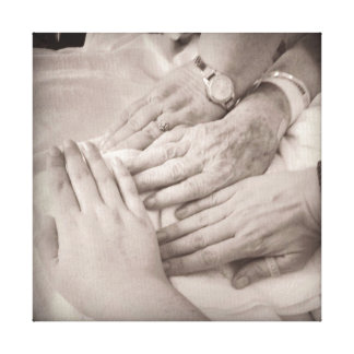 Make Your Own Generations of Hands Canvas Print
