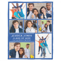 Make Your Own Graduation Gift Photo Collage Fleece Blanket