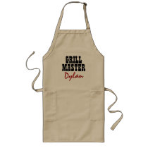 Make your own grill master BBQ apron for men Beige