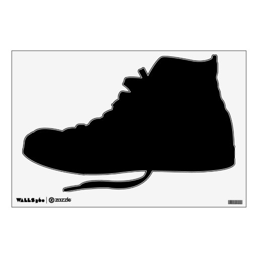 make your own hi top tennis shoes wall decal room stickers