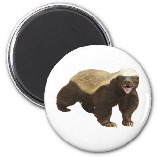 """Make your own """"Honey Badger Don't Care"""" Gift 2 Inch Round Magnet"""