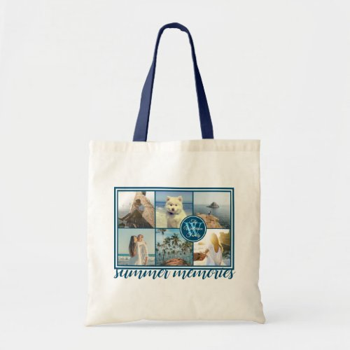 Make Your Own Instagram Grid Summer Photo Collage Tote Bag