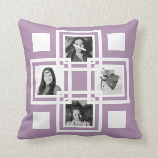 Make Your Own Instagram Photo Any Color Throw Pillow