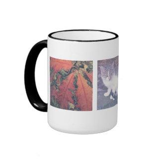Make your own Instagram photo collage large mug Ringer Mug