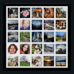 "Make Your Own Instagram Photo Gallery Style Poster<br><div class=""desc"">Display all of your best or favorite photographs with this quick and easy photo template poster! Choose any color for the outside border edge background. Shown black. Photos are aligned in a grid on white for gallery effect and professional look. Works best with instagram photos, but other sizes/proportions will be...</div>"